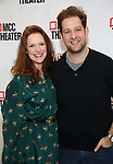 """Grace McLean and Andrew Kober attends the Photo Call for the MCC Theater's World Premiere production of """"Alice by Heart"""" at the New 42nd Street Studios on December 17, 2018 in New York City."""