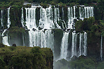 Iguazu Falls National Park in Argentina, as viewed from Brazil.  A UNESCO World Heritage Site.  Pictured is Mbigua Falls.