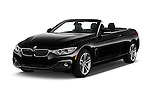 2017 BMW 4-Series 430i 2 Door Convertible Angular Front stock photos of front three quarter view