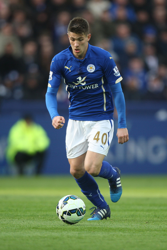 Leicester City's Andrej Kramaric in action during todays match  <br /> <br /> Photographer Jack Phillips/CameraSport<br /> <br /> Football - Barclays Premiership - Leicester City v Hull City - Saturday 14th March 2015 - King Power Stadium - Leicester<br /> <br /> &copy; CameraSport - 43 Linden Ave. Countesthorpe. Leicester. England. LE8 5PG - Tel: +44 (0) 116 277 4147 - admin@camerasport.com - www.camerasport.com