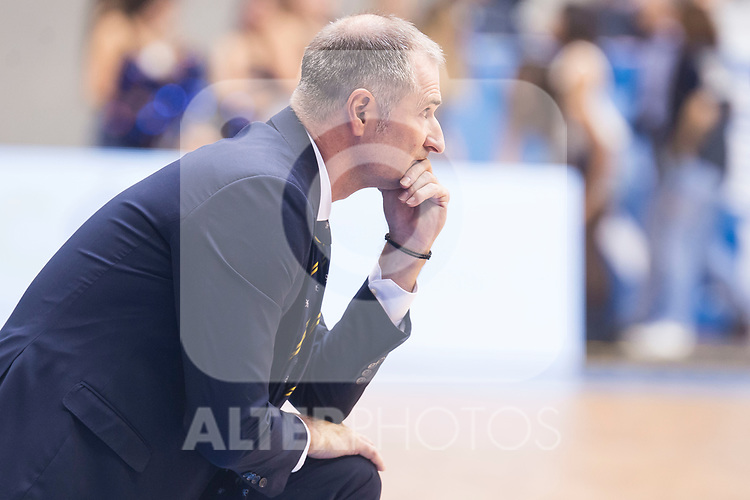 Iberostar Tenerife's coach Nenad Markovic during Liga Endesa match between San Pablo Burgos and Iberostar Tenerife at Coliseum Burgos in Burgos, Spain October 01, 2017. (ALTERPHOTOS/Borja B.Hojas)