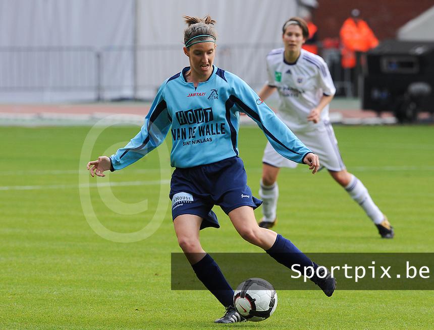 15 Mei 2010 Bekerfinale vrouwen : Sinaai Girls - RSC Anderlecht  : Natalie Vanderstappen.foto DAVID CATRY / Vrouwenteam.be