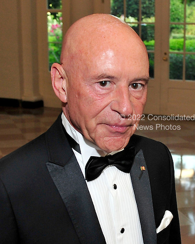 Christoph Eschenbach, Music Director of the National Symphony Orchestra and Music Director of the John F. Kennedy Center for the Performing Arts, arrives for a State Dinner in honor of Chancellor Angela Merkel of Germany at the White House in Washington, D.C.  on Tuesday, June 7, 2011..Credit: Ron Sachs / CNP