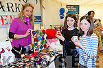 Alice Casey and Emma Casey looking at Jorga Butkute jewellery at the Killorglin business expo in the Killorglin CYMS on Friday