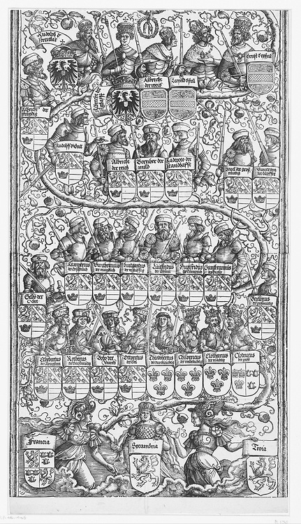 Family of Maximilian (lower part), Albrecht Dürer, 1515