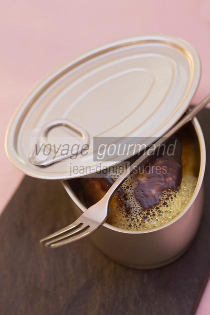 Europe/France/Provence-Alpes-Côte d'Azur/13/Bouches-du-Rhone/Aix-en-Provence: Escalope de foie gras ultra frais à la pomme et  fruit de la passion, recette de Pierre Reboul - Restaurant: Pierre Reboul