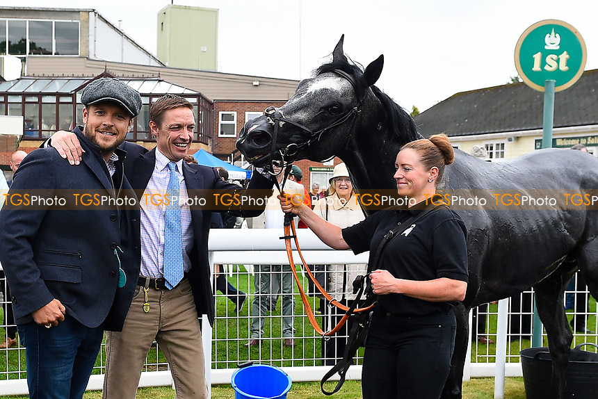 Connections of See of Rome in the winners enclosure after winning The British EBF Venture Security Maiden Stakes,  during Whitsbury Manor Stud Bibury Cup Day Racing at Salisbury Racecourse on 28th June 2017