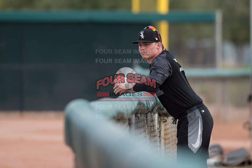 AZL White Sox pitcher Jacob Cooper (30) during an Arizona League game against the AZL Athletics at Camelback Ranch on July 15, 2018 in Glendale, Arizona. The AZL White Sox defeated the AZL Athletics 2-1. (Zachary Lucy/Four Seam Images)