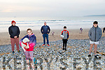 Siofra Minogue with her dog Dude and Rosie Foley, Pat, Brendan and Oisin Minogue from Tralee ready to take a stroll on Banna Beach on Sunday evening.