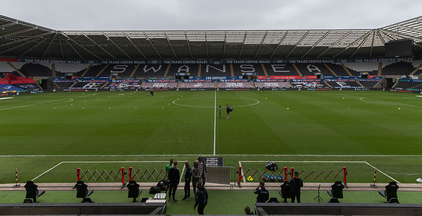 Liberty Stadium - Swansea - Ground View<br /> <br /> Photographer David Horton/CameraSport<br /> <br /> The EFL Sky Bet Championship - Swansea City v Bristol City- Saturday 18th July 2020 - Liberty Stadium - Swansea<br /> <br /> World Copyright © 2019 CameraSport. All rights reserved. 43 Linden Ave. Countesthorpe. Leicester. England. LE8 5PG - Tel: +44 (0) 116 277 4147 - admin@camerasport.com - www.camerasport.com