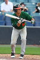 "Miami Hurricanes Nathan Melendres #10 during a game vs. the University of South Florida Bulls in the ""Florida Four"" at George M. Steinbrenner Field in Tampa, Florida;  March 1, 2011.  USF defeated Miami 4-2.  Photo By Mike Janes/Four Seam Images"