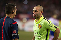 Barcelona´s Javier Mascherano during 2014-15 Spanish King Cup match between Atletico de Madrid and Barcelona at Vicente Calderon stadium in Madrid, Spain. January 28, 2015. (ALTERPHOTOS/Luis Fernandez) /nortephoto.com<br />