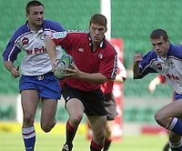 25/05/2002 (Saturday).Sport -Rugby Union - London Sevens.Canada vs Russia.Todd McBridge running with ball.[Mandatory Credit, Peter Spurier/ Intersport Images].