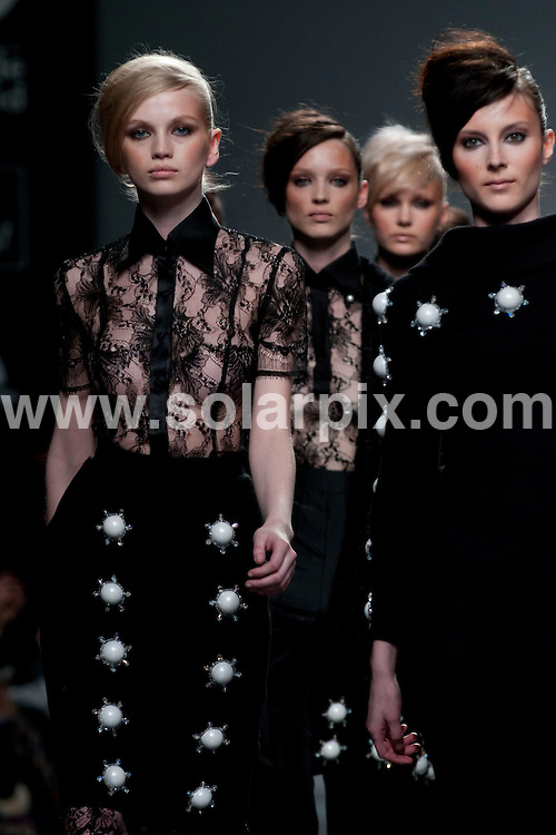**ALL ROUND PICTURES FROM SOLARPIX.COM**                                             **WORLDWIDE SYNDICATION RIGHTS EXCEPT SPAIN - NO SYNDICATION IN SPAIN**                                                                                  03/02/2011. Madrid.Spain. MBFWM. Mercedes Benz Fashion week Madrid. Juana Martin Show.                                                                         This pic:    Juana Martin Show                                                                                          JOB REF:    14419    DMS Espinola  DATE: 03.02.12                                                           **MUST CREDIT SOLARPIX.COM OR DOUBLE FEE WILL BE CHARGED**                                                                      **MUST AGREE FEE BEFORE ONLINE USAGE**                               **CALL US ON: +34 952 811 768 or LOW RATE FROM UK 0844 617 7637**