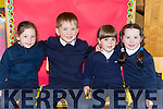 Ciaran Clendennan, Adrian Wharton, Erin Davitt and Solanna O'Sullivan who started school in Kiltallagh NS, Castlemaine