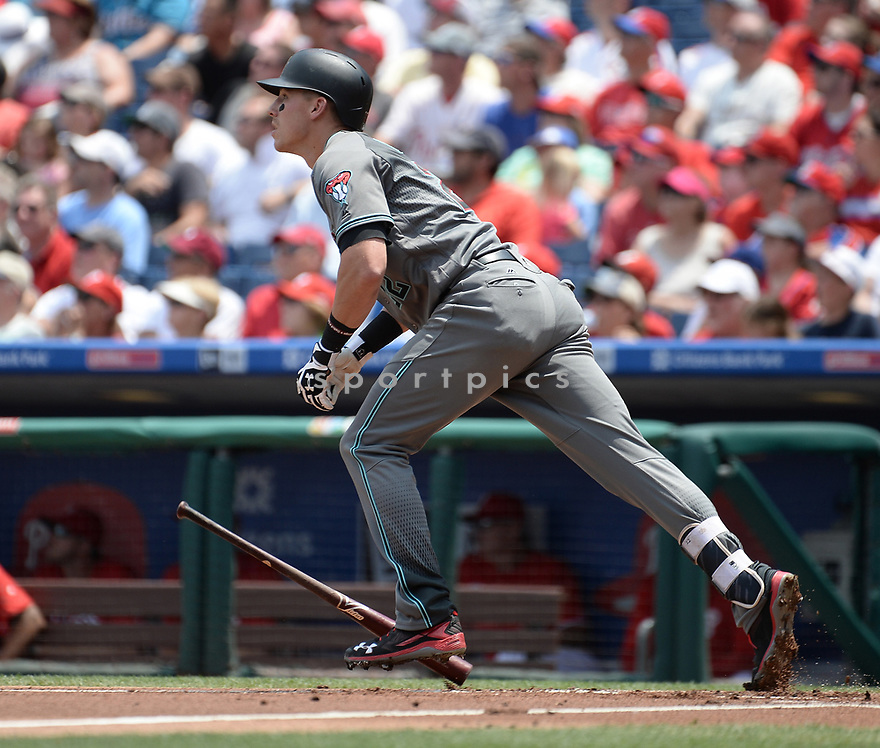 Arizona Diamondbacks Jake Lamb (22) during a game against the Philadelphia Phillies on June 20, 2016 at Citizens Bank Park in Philadelphia, PA. The Diamondbacks beat the Phillies 3-1.