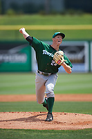 Daytona Tortugas starting pitcher Wyatt Strahan (24) during a game against the Clearwater Threshers on April 20, 2016 at Bright House Field in Clearwater, Florida.  Clearwater defeated Daytona 4-2.  (Mike Janes/Four Seam Images)