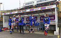 Picture by Anna Gowthorpe/SWpix.com - 15/04/2018 - Rugby League - Womens Super League - Bradford Bulls v Leeds Rhinos - Coral Windows Stadium, Bradford, England - The Leeds Rhinos team bench