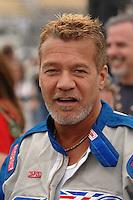Apr 20, 2007; Avondale, AZ, USA; Rock singer Eddie Van Halen during Nascar Nextel Cup Series practice for the Subway Fresh Fit 500 at Phoenix International Raceway. Mandatory Credit: Mark J. Rebilas