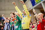 Siegerpose: Jannick Green Krejberg (SC Magdeburg #16) beim Spiel in der Handball Bundesliga, TVB 1898 Stuttgart - SC Magdeburg.<br /> <br /> Foto © PIX-Sportfotos *** Foto ist honorarpflichtig! *** Auf Anfrage in hoeherer Qualitaet/Aufloesung. Belegexemplar erbeten. Veroeffentlichung ausschliesslich fuer journalistisch-publizistische Zwecke. For editorial use only.