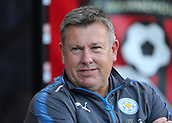 30th September 2017, Vitality Stadium, Bournemouth, England; EPL Premier League football, Bournemouth versus Leicester; Leicester Manager Craig Shakespeare prepares for kick off
