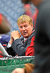 29 March 2008: Washington Nationals' General Manager Jim Bowden stands behind batting cage prior to an exhibition game against the Baltimore Orioles at Nationals Park, in Washington, DC. The matchup was the first professional game played in the new ballpark, prior to the upcoming official opening day inaugural game. The Nationals defeated the Orioles 3-0...Mandatory Photo Credit: Ed Wolfstein Photo