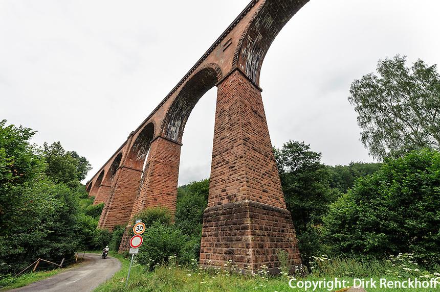 Himbächel-Viadukt im Odenwald, Hessen, Deutschland