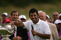 Pablo Larrazabal winner of the of the 2008 Open de France Alstom at Golf National, Paris, France June 29th 2008 (Photo by Eoin Clarke/GOLFFILE)