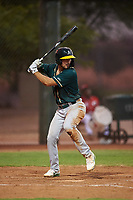 AZL Athletics Green Gavin Jones (12) at bat during an Arizona League game against the AZL Reds on July 21, 2019 at the Cincinnati Reds Spring Training Complex in Goodyear, Arizona. The AZL Reds defeated the AZL Athletics Green 8-6. (Zachary Lucy/Four Seam Images)