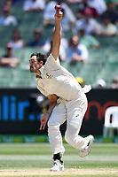 29th December 2019; Melbourne Cricket Ground, Melbourne, Victoria, Australia; International Test Cricket, Australia versus New Zealand, Test 2, Day 4; Mitchell Starc of Australia bowls - Editorial Use