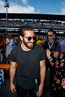 May 28, 2017; Indianapolis, IN, USA; Movie actor Jake Gyllenhaal prior to the 101st Running of the Indianapolis 500 at Indianapolis Motor Speedway. Mandatory Credit: Mark J. Rebilas-USA TODAY Sports