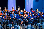Students from Colaiste Ide ague Iosef who played last Sunday night a=head of the Kilfenora Ceilie Band.
