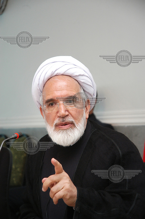 Reformist politician Mehdi Karroubi, chairman of the National Trust Party (NTP).