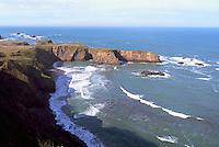 Coastline along Pacific West Coast near Fort Bragg, California, USA