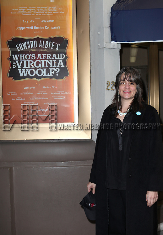 Pam MacKinnon attending the Opening Night Performance of Edward Albee's 'Who's Afraid of Virginia Woolf?' at the Booth Theatre on October 13, 2012 in New York City.