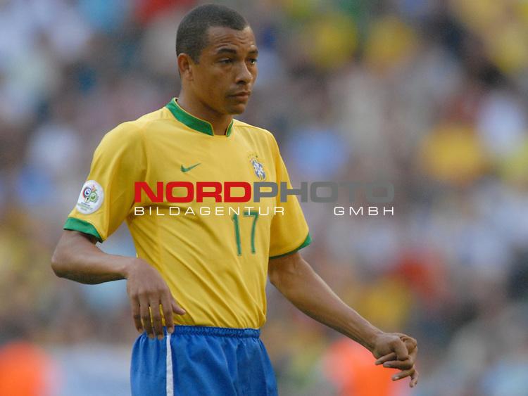 FIFA WM 2006 -  Gruppe F Vorrunde ( Group F )<br /> Play    #27 (18-Jun) - Brazil vs Australia<br /> <br /> Gilberto Silva (BRA)<br /> <br /> Foto &copy; nordphoto
