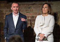 Paddy Lowe Claire Williams during the Williams 2018 F1 Car Launch at Villiage Underground, London, England on 15 February 2018. Photo by Vince  Mignott.
