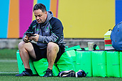 29th September 2017, Sixways Stadium, Worcester, England; Aviva Premiership Rugby, Worcester Warriors versus Saracens; Worcester Warriors training team getting ready to start the warm-up session