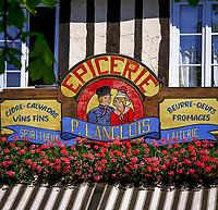 Frankreich, Normandie: Feinkostladen, Schild | France, Normandy: Shop Sign of a deli
