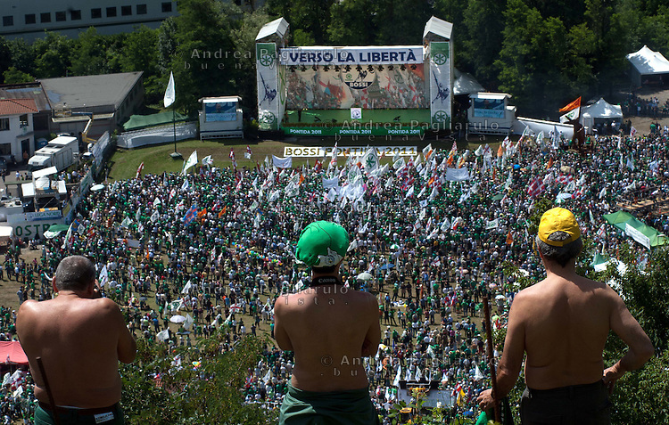 Italia, Pontida (BG)   14/06/2011.Raduno Lega Nord..#####.Italy, Pontida (BG)    June  14th 2011.Lega Nord meeting.