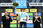 Marc Soler (ESP) Movistar Team the overall title by 4&quot; and the young riders White Jersey at the end of Stage 8 of the 2018 Paris-Nice running 110km from Nice to Nice, France. 11th March 2018.<br /> Picture: ASO/Alex Broadway | Cyclefile<br /> <br /> <br /> All photos usage must carry mandatory copyright credit (&copy; Cyclefile | ASO/Alex Broadway)