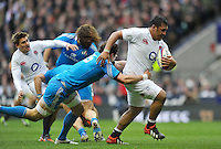 Mako Vunipola goes on the charge. RBS Six Nations match between England and Italy on March 10, 2013 at Twickenham Stadium in London, England. Photo by: Patrick Khachfe / Onside Images
