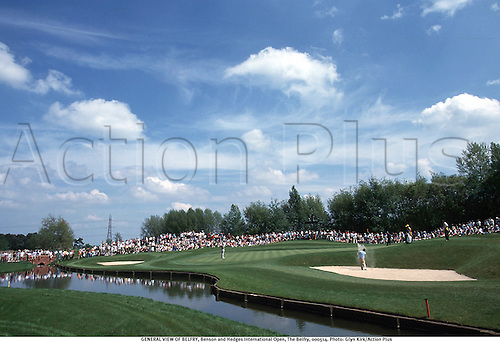 GENERAL VIEW OF BELFRY, Benson and Hedges International Open, The Belfry, 000514. Photo: Glyn Kirk/Action Plus...2000.golf.course.courses.venues venue.england