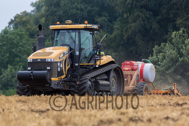 Drilling oilseed rape with a sub soiler <br /> Picture Tim Scrivener 07850 303986