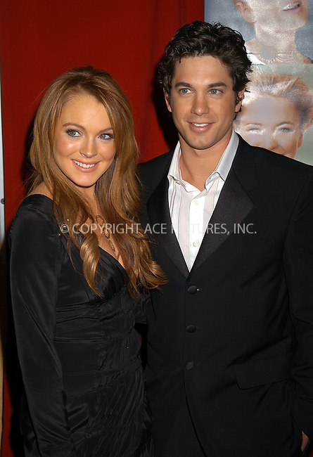 WWW.ACEPIXS.COM . . . . .  ....NEW YORK, FEBRUARY 17, 2004....Lindsay Lohan and Adam Garcia attend the premiere of Confessions of a Teenage Drama Queen in NYC.....Please byline: AJ Sokalner - ACE PICTURES..... *** ***..Ace Pictures, Inc:  ..Alecsey Boldeskul (646) 267-6913 ..Philip Vaughan (646) 769-0430..e-mail: info@acepixs.com..web: http://www.acepixs.com