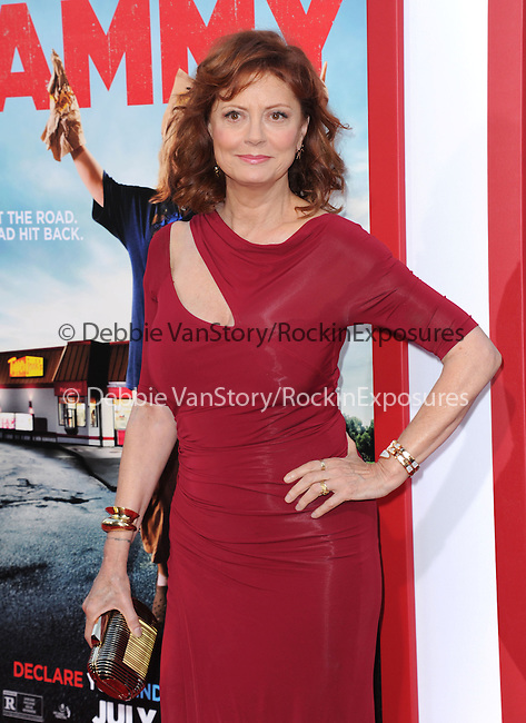 Susan Sarandon at The Warner Bros. Pictures' L.A. Premiere of Tammy held at The TCL Chinese Theatre in Hollywood, California on June 30,2014                                                                               © 2014 Hollywood Press Agency