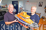 Englishman Keith Baxter, pictured with Ger O'Donnell donated a miniature All Weather Lifeboat to Fenit RNLI on Friday.