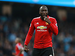 Romelu Lukaku of Manchester United during the premier league match at the Etihad Stadium, Manchester. Picture date 7th April 2018. Picture credit should read: Simon Bellis/Sportimage