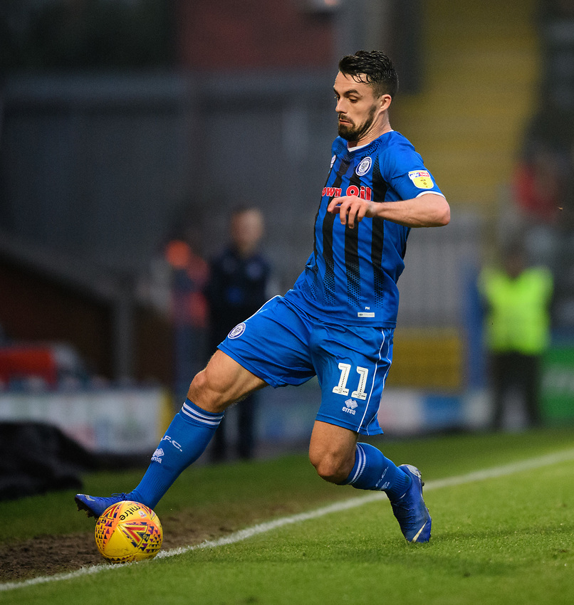 Rochdale's Jordan Williams<br /> <br /> Photographer Chris Vaughan/CameraSport<br /> <br /> The EFL Sky Bet League One - Rochdale v Blackpool - Wednesday 26th December 2018 - Spotland Stadium - Rochdale<br /> <br /> World Copyright © 2018 CameraSport. All rights reserved. 43 Linden Ave. Countesthorpe. Leicester. England. LE8 5PG - Tel: +44 (0) 116 277 4147 - admin@camerasport.com - www.camerasport.com