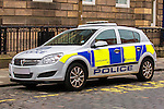 Police Scotland Vauxhall Corsa police car<br /> <br /> Image by: Malcolm McCurrach | New Wave Images UK<br /> Thu, 5, June, 2014